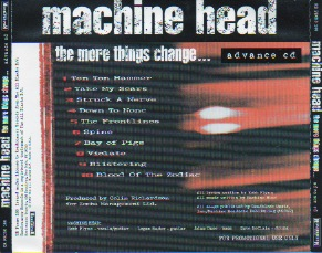 The More Things Change Advance Cd Back