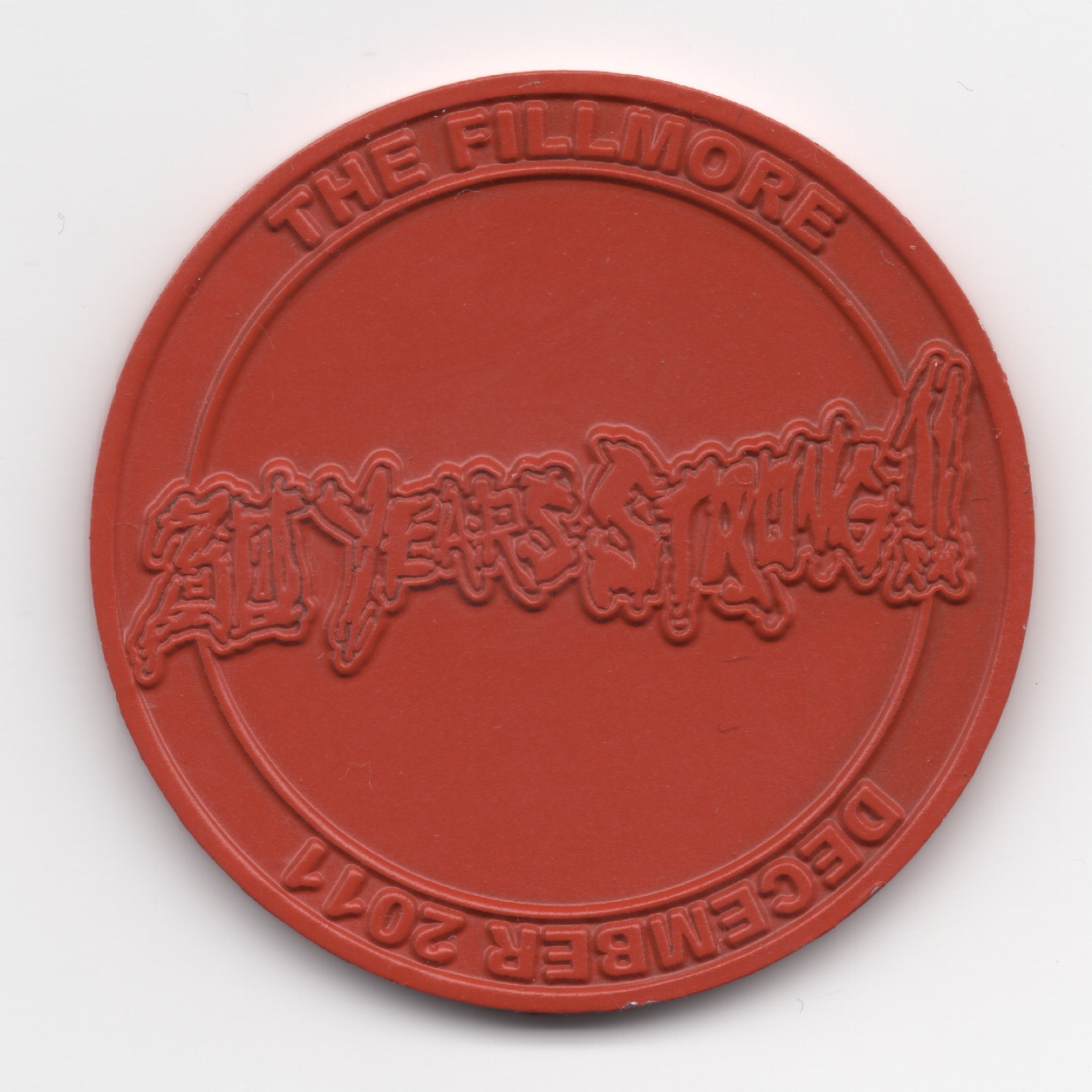 XXX Coin Red Small Back