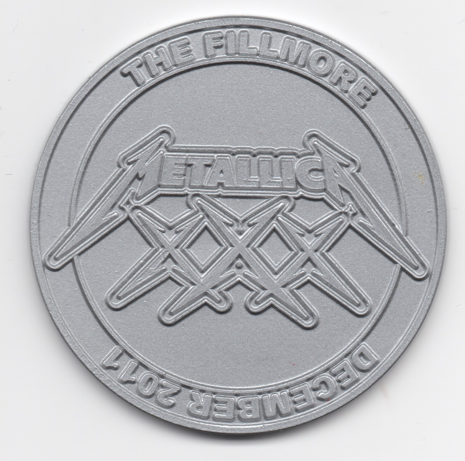 XXX Coin Silver Large Front