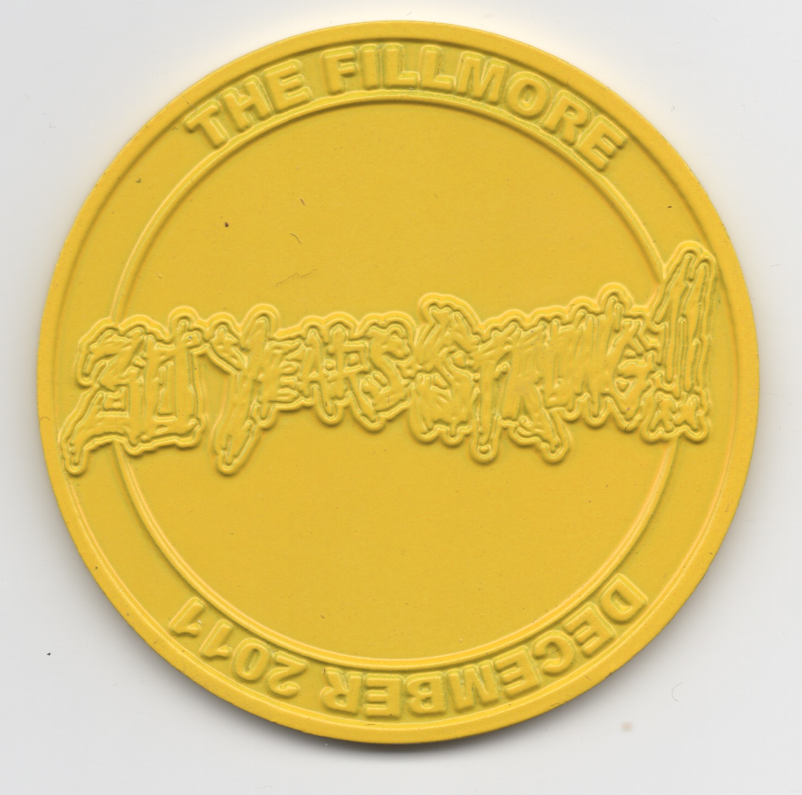XXX Coin Yellow Large Back