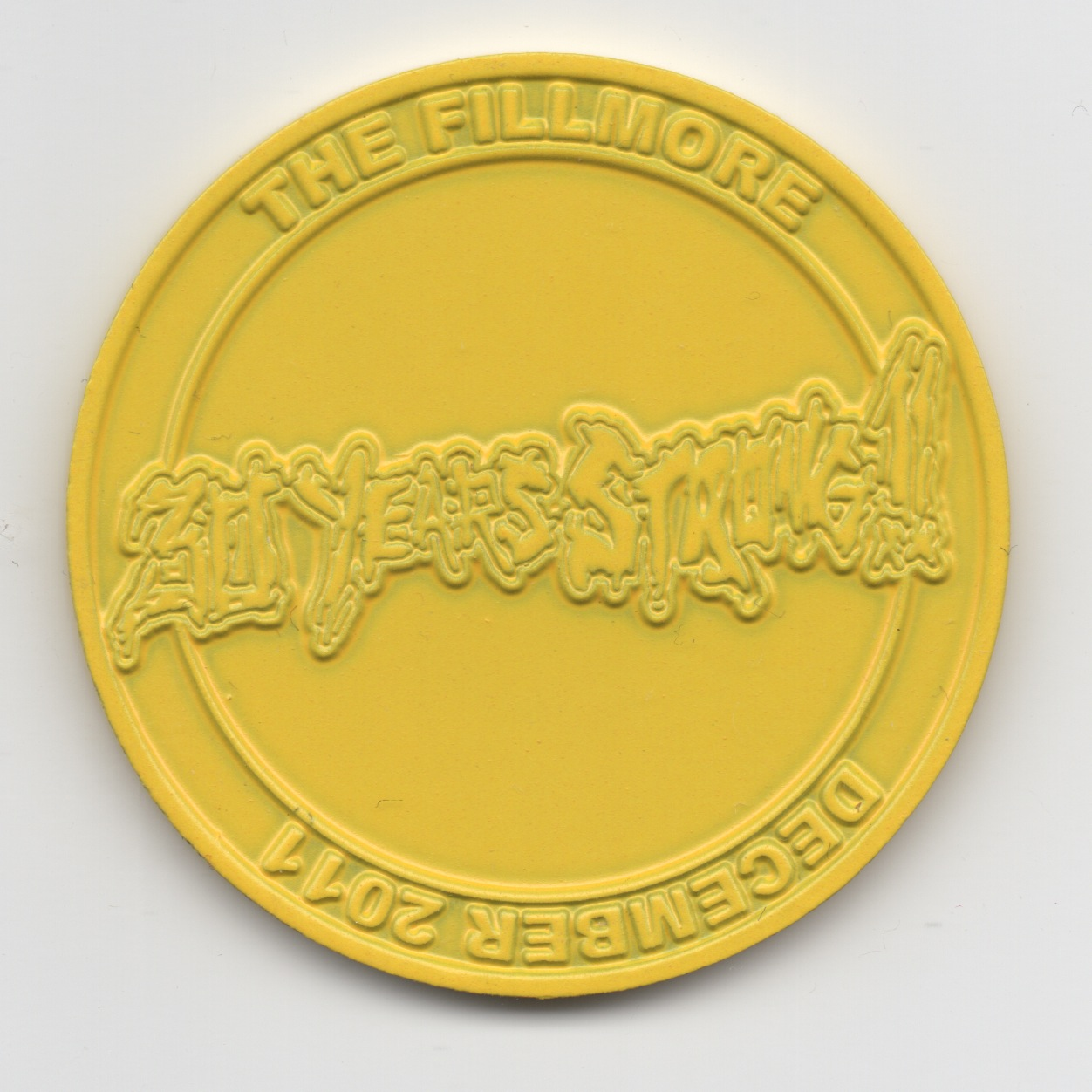 XXX Coin Yellow Small Back