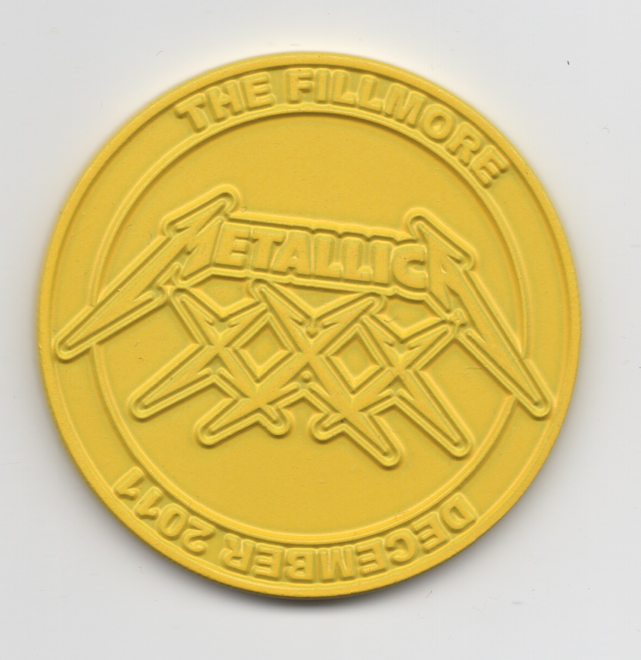 XXX Coin Yellow Small Front